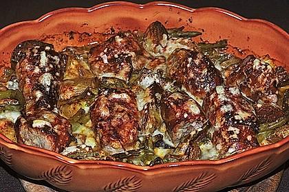 Filet - Krüstchen mit Bohnen 2