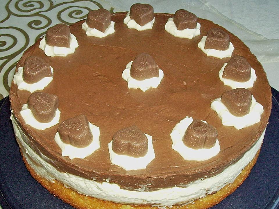 Milka Herzen Torte Von Claudia82 Chefkoch De