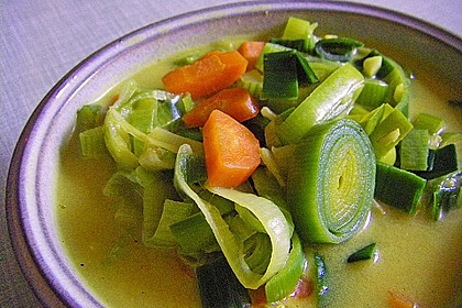 Kokos - Lauch - Suppe 3