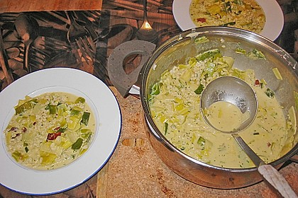 Kokos - Lauch - Suppe 7