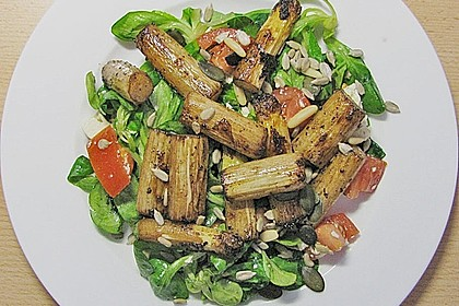 Feldsalat mit gebratenem Spargel 6