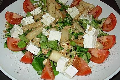 Feldsalat mit gebratenem Spargel 1