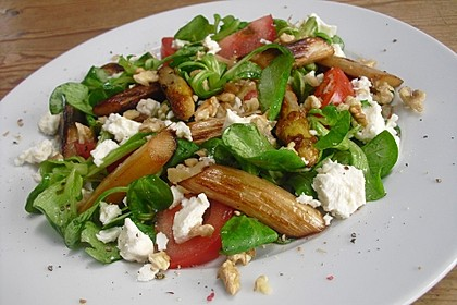 Feldsalat mit gebratenem Spargel 2