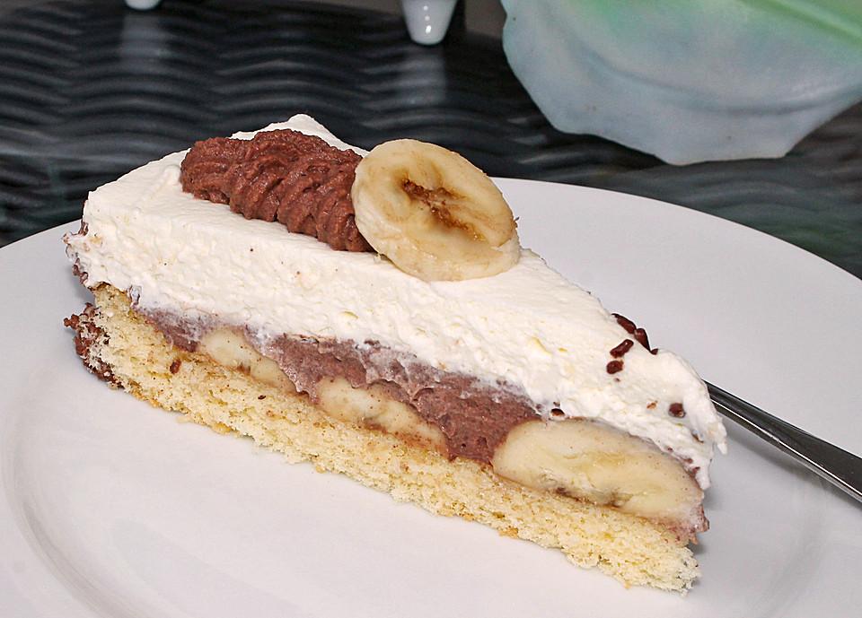 Bananen Schoko Torte Von Malakan Fisch Chefkoch
