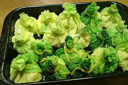 Wirzpäckchen mit Kartoffeln (Bild)