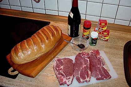Rotweinkotelett mit Pfeffersoße 4