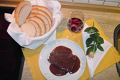 Rotweinkotelett mit Pfeffersoße 1