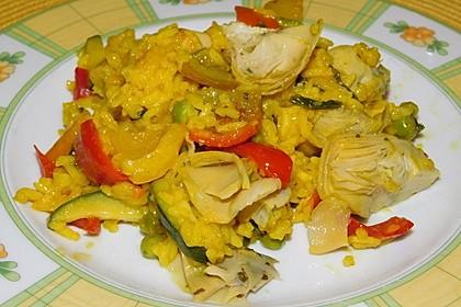 Vegetarische Paella (Bild)