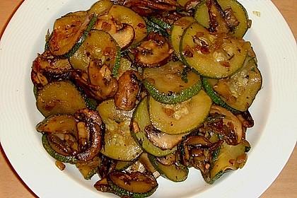 Zucchini - Champignon - Pfanne 5