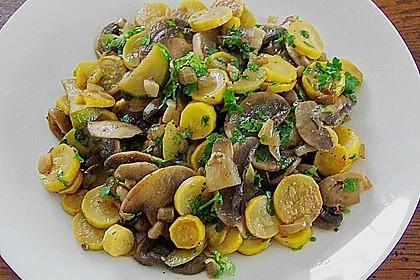 Zucchini - Champignon - Pfanne 17