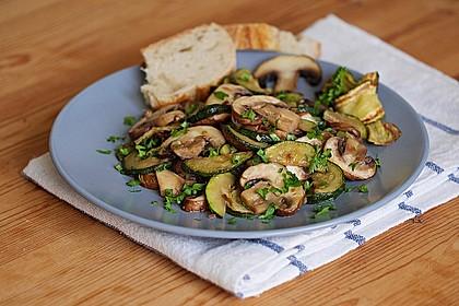 Zucchini - Champignon - Pfanne 1