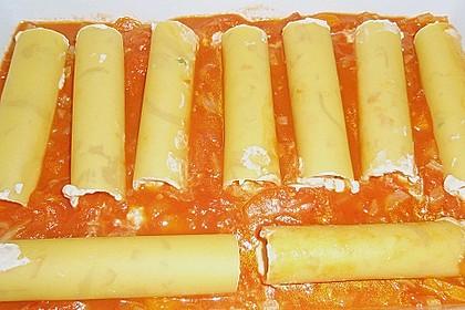 Cannelloni mit Karotten und Ricotta gefüllt 1
