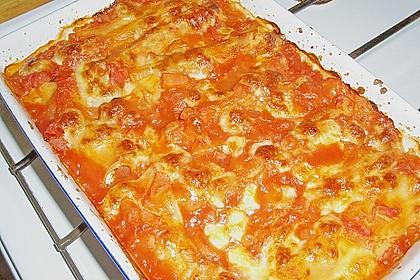 Cannelloni mit Karotten und Ricotta gefüllt 3