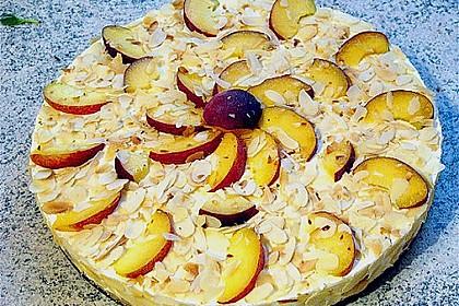 Pfirsich - Mandel - Torte mit Mascarpone 2