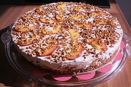 Pfirsich - Mandel - Torte mit Mascarpone 1