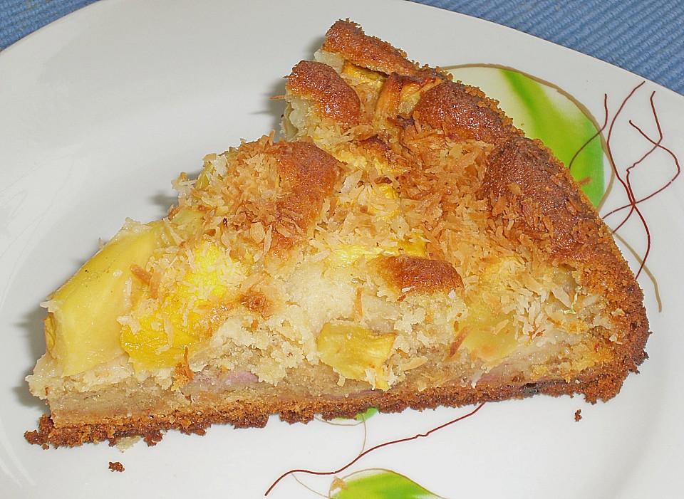 Nina S Bananen Mango Kuchen Von Celi Chefkoch De