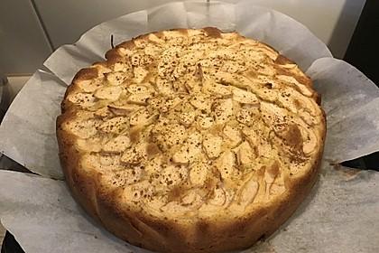 Apfelkuchen schnell und fein (Bild)