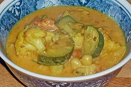 Vegetarisches Gemüsecurry 12