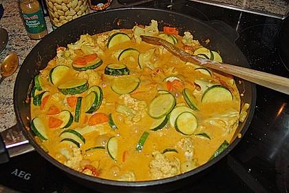 Vegetarisches Gemüsecurry 1