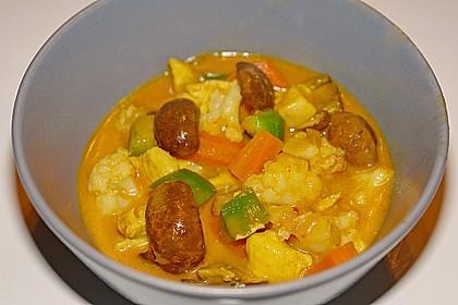 Vegetarisches Gemüsecurry 20