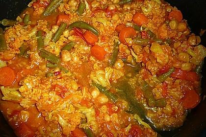 Vegetarisches Gemüsecurry 13