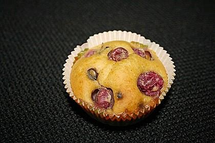 Blaue Vollkorn - Weintrauben - Muffins mit Schokodrops