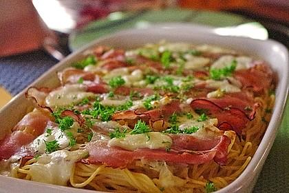 Spaghetti-Auflauf mit Speck 1
