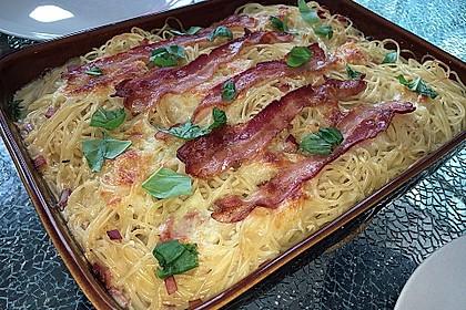 Spaghetti-Auflauf mit Speck 11