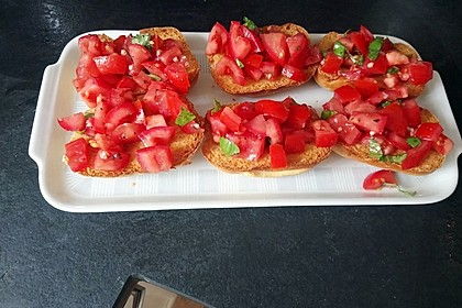 Bruschetta mit kalten Tomaten 1