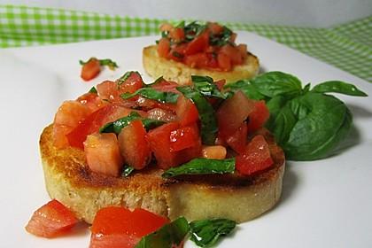 Bruschetta mit kalten Tomaten 6