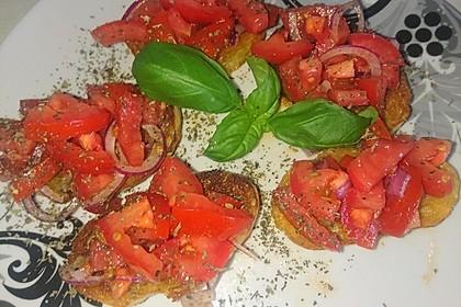 Bruschetta mit kalten Tomaten 20