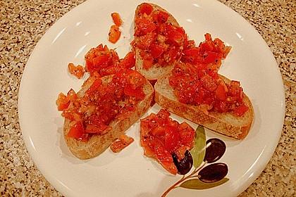 Bruschetta mit kalten Tomaten 13