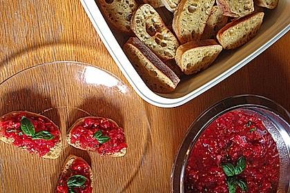 Bruschetta mit kalten Tomaten 26