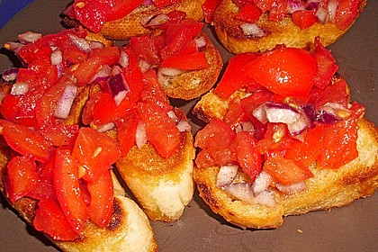 Bruschetta mit kalten Tomaten 16