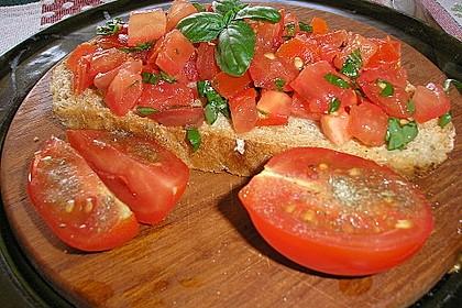 Bruschetta mit kalten Tomaten 4