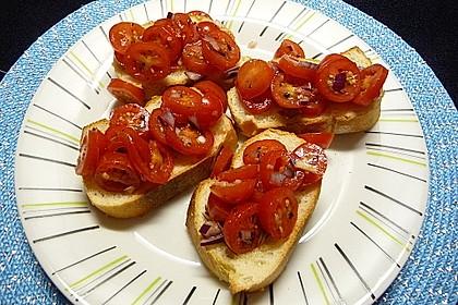 Bruschetta mit kalten Tomaten 11