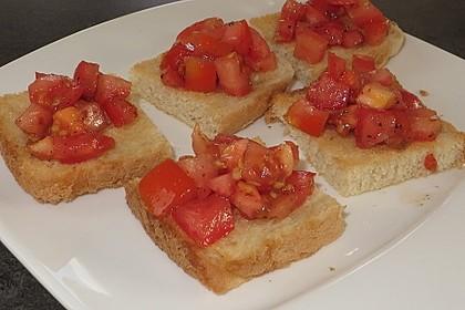 Bruschetta mit kalten Tomaten 24