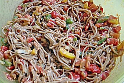Pikanter Thunfisch - Spaghetti - Salat