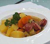 Kartoffelsuppe mit Rohpolnischen (Bild)