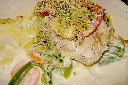 Seelachsfilet auf Zucchinibett 14