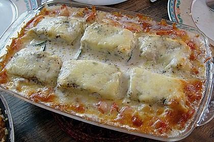 Seelachsfilet auf Zucchinibett 1