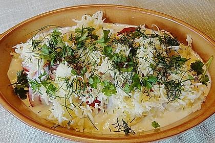 Seelachsfilet auf Zucchinibett 45