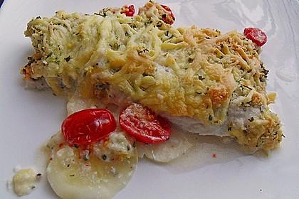 Seelachsfilet auf Zucchinibett 4
