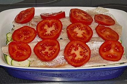 Seelachsfilet auf Zucchinibett 26