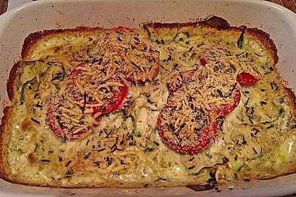 Seelachsfilet auf Zucchinibett 20