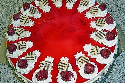 Kirsch - Joghurttorte rot - weiß