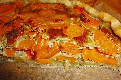 Möhren - Quiche mit Gorgonzola 11