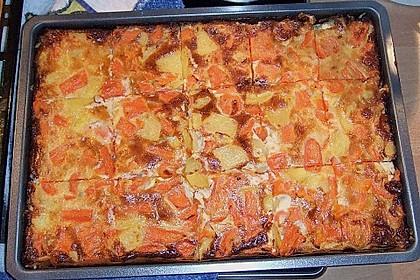 Möhren - Quiche mit Gorgonzola 6