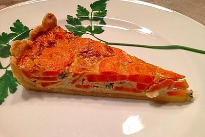 Möhren - Quiche mit Gorgonzola 1