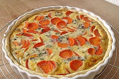 Möhren - Quiche mit Gorgonzola 3